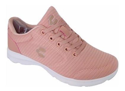 Tenis Charly 1049358 Mujer Rosa Moda Running Deportivo Tela