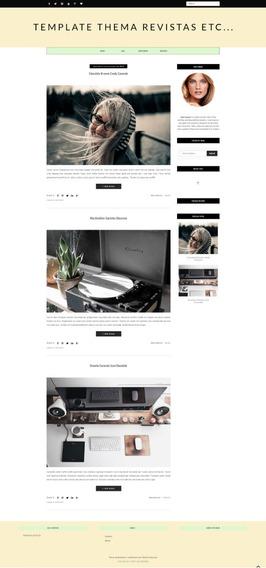 Template Blogger Para Revistas Moda Fashion Noticías Etc..