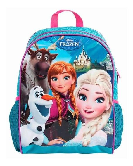 Mochila De Costas Escola Frozen Disney Dermiwil Cor Azul