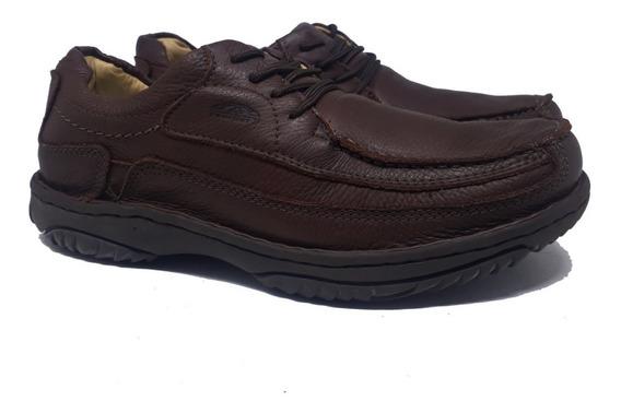 Sapato Antistress Botinha Couro Coturno Anatômica Promoção