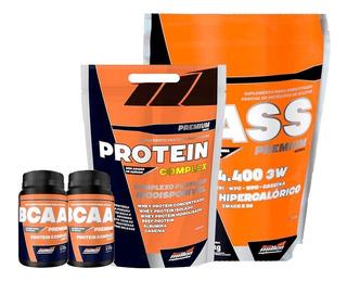 Hipercalórico 7200 + Protein Complex + 2x Bcaa - New Millen