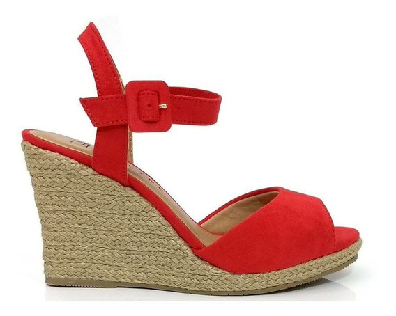 Sandália Plataforma Vermelha Offline Feminina