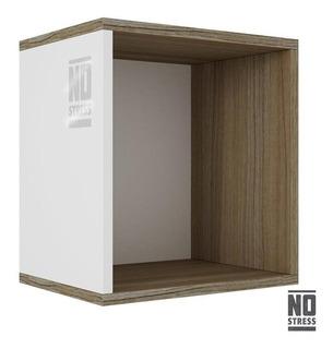 Muebles Repisa Cubo Decorativa Armable Blanco Bns 01-47