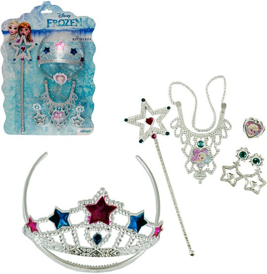 Fantasia Divertida Kit Beleza 5 Peças Frozen
