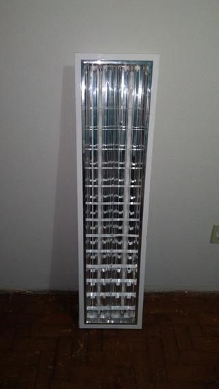 Luminarias Calha 31x125 Embutir Aletada Com Lampadas