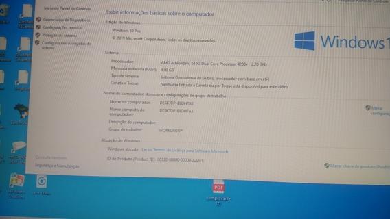 Vendo Cpu Desktop Processador Amd Dual Core