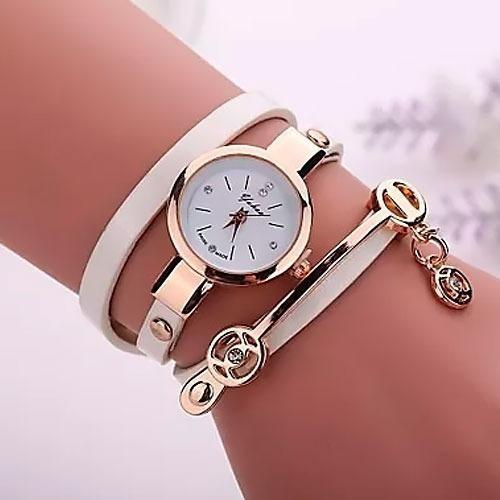 Relógio De Pulso Pulseira Feminino Couro Pu Vintage