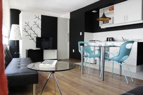 Muy Moderno, Luminoso Y Cómodo Apartamento De 1 Dormitorio.