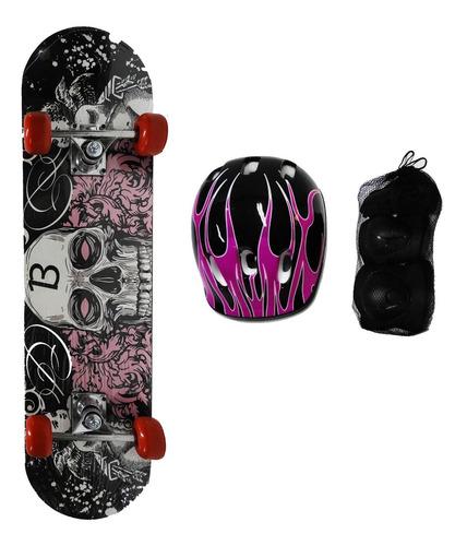 Imagen 1 de 2 de Skate Con Set De Protección En Bolso Yx-0205s
