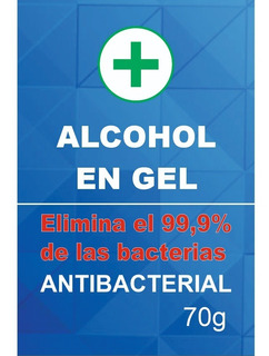Alcohol En Gel Pack X 10 Unidades 70g