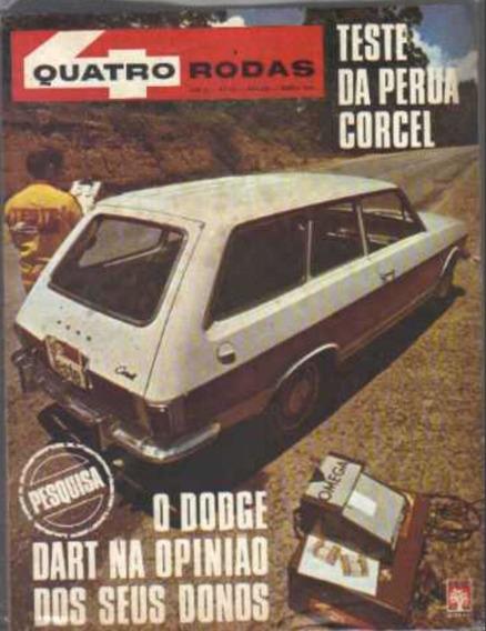 Revista 4 Rodas 116 Março De 1970 Dodge Dart Belina + Barata