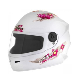 Capacete Pro Tork Liberty Four Kids Girls Branco 54 Infantil