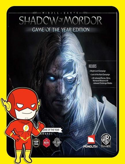 Middle-earth Shadow Mordor Goty Pc - Steam Key (envio Flash)