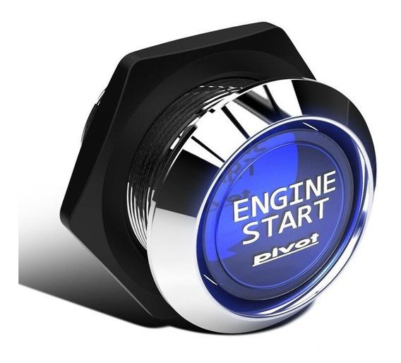 Botão Ignição Partida Start Engine Universal Azul Com Relê