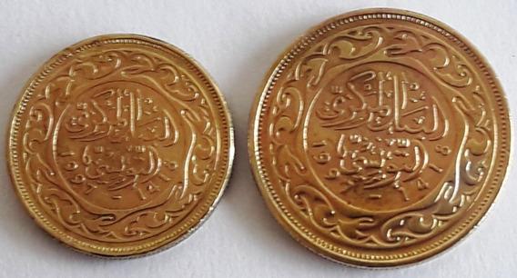 Tunez Set De 2 Monedas Del Año 1997 (1418)