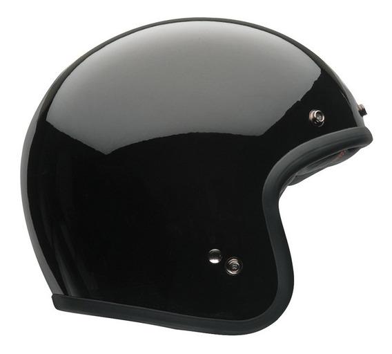 Capacete Bell Custom 500 Monocolor Aberto Preto Rs1