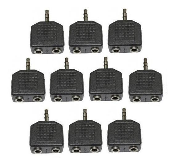 Kit 10 Divisor P2 Para 2 J2 (2 Microfones Ou 2 Fones)