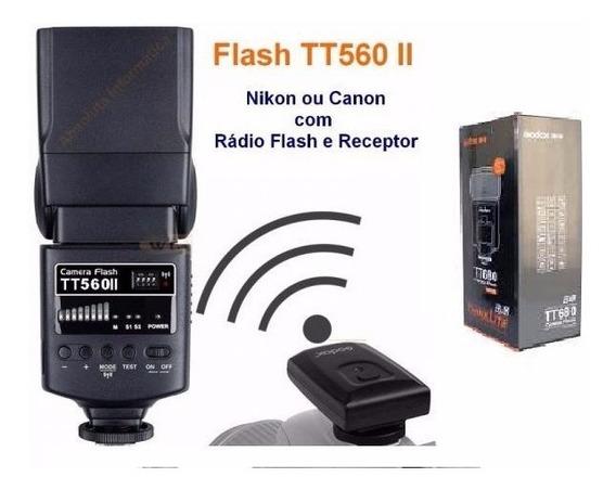 Flash Speedlite Godox Tt560 Ii C/radio Flash Canon/nikon