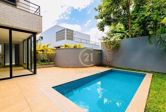 Casa Em Condomínio Fechado Com 3 Suítes, 3 Garagens, Piscina À Venda, 272 M² Por R$ 4.500.000 - Moema, Pertinho Do Parque - Ca0613