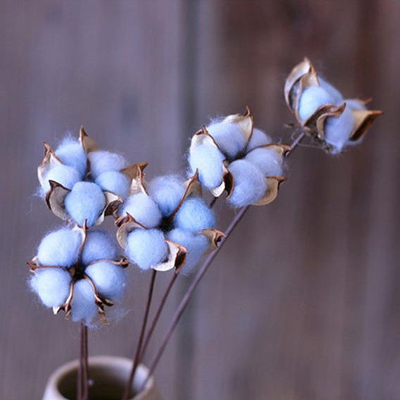 1 Ramo Elegante De Algodão Colorido Flor Flor Artificial De