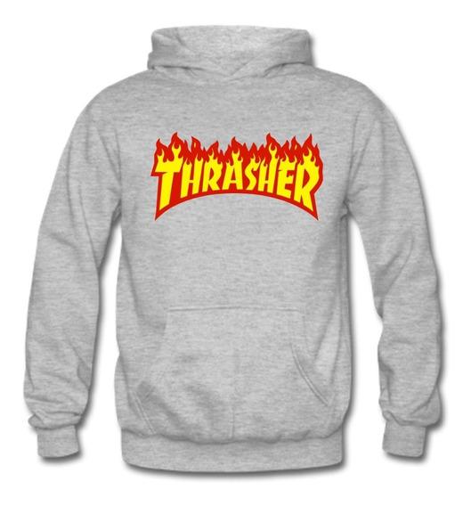 Poleron Estampado Thrasher 100% Algodón,