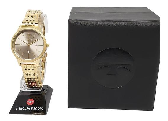 Relógio Feminino Barato Technos 2039be/4c Original Nf-e