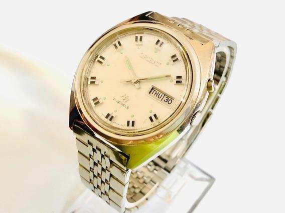 Antigo Relógio De Pulso Orient Automático Calendário 46941