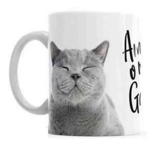 Caneca De Cerâmica De Gato Amo Meu Gato Personalizada