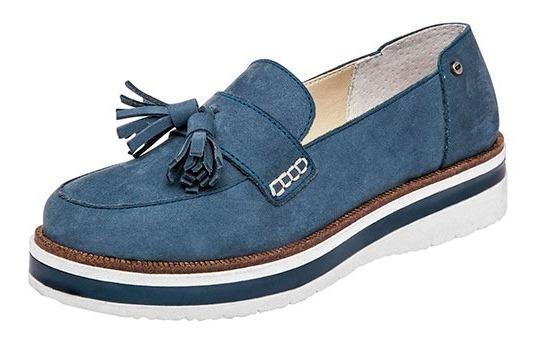 Zapatos Levis Casual Confort Dama Piel Azul 85688 Dtt