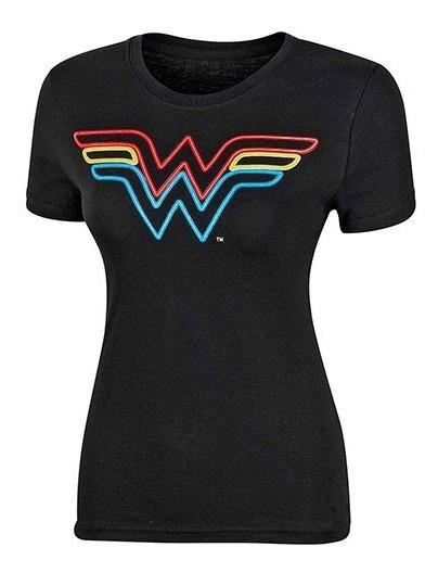 Playera Dama Wonder Woman Ltx Bldww9401 Negro 096-492 T5