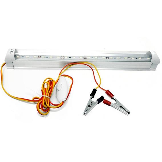 Foco Lampara Emergencia 5w Con Apagador 12v 6500k 30cm