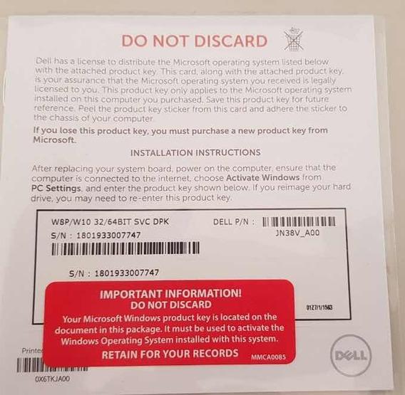 Licença Windows 8/10 Pro 32/64 Bits