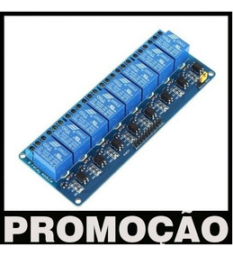 Módulo Relé 8 Canais 5v Arduino Shield Uno R3 Mega Pic Relay