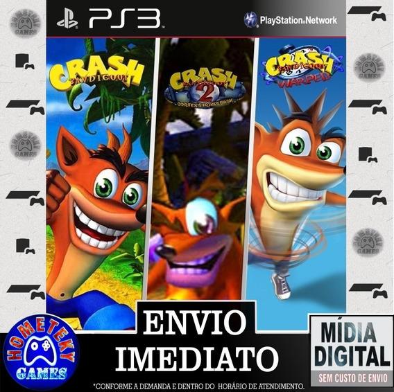 Crash Bandicoot Trilogia 1, 2 E 3 - Psn Ps3