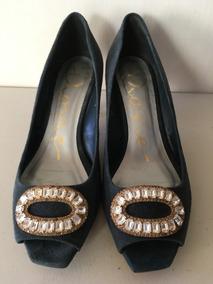 Zapatos Dama Ante Azul Marino Dione