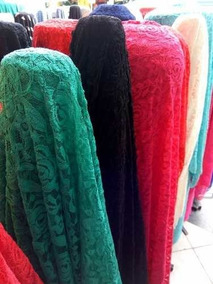 7 Metro - Renda Francesa Com Lycra Vestido Saia Blusa