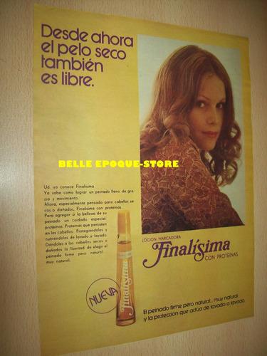 Clipping Antigua Publicidad Locion Marcadora Finalisima