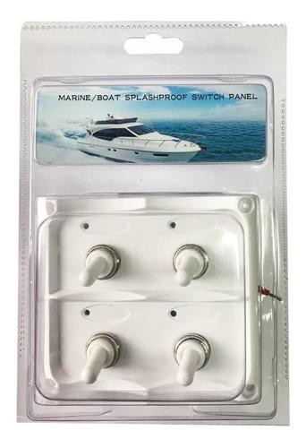 Tablero Nautico 4 Interruptores Blanco -lancha