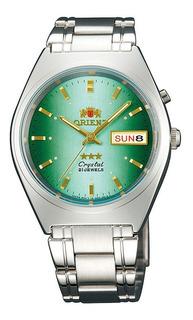Reloj Orient Automatico 21 Rubies De Hombre Fondo Verde Doble Calendario Bilingüe 100% Original Agente Oficial Liniers