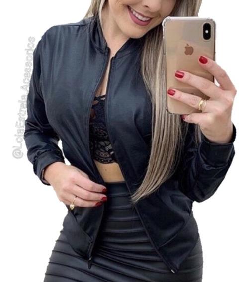 Jaqueta Casaco Bomber Cirre Feminina Moda Girl Blogueira