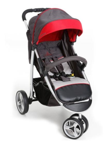 Carrinho Bebê Apollo Galzerano Grafite/vermelho 1395grv