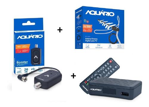 Kit Conversor Digital + Amplificador Sinal + Antena Externa