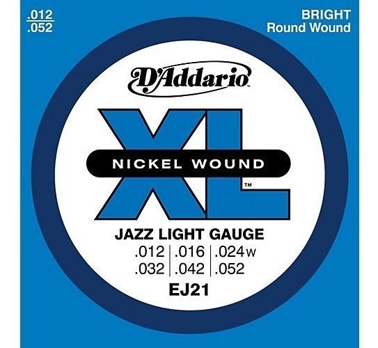 Cuerdas Para Guitarra Electrica Daddario Ej21 Jazz Light