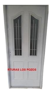 Puerta Frente O Patio Inyectada Con Doble Vidrio M8
