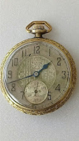 Antiguo Reloj De Bolsillo Elgin 14k. Tivoli Gold Filled