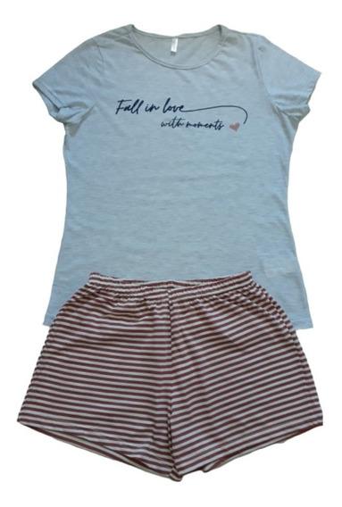 Kit 3 Pijama Feminino Adulto Confortável: 2 Longo + 1 Curto