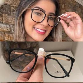 0943766d4 Oculos Sem Grau Quadrado Preto Dior - Óculos no Mercado Livre Brasil