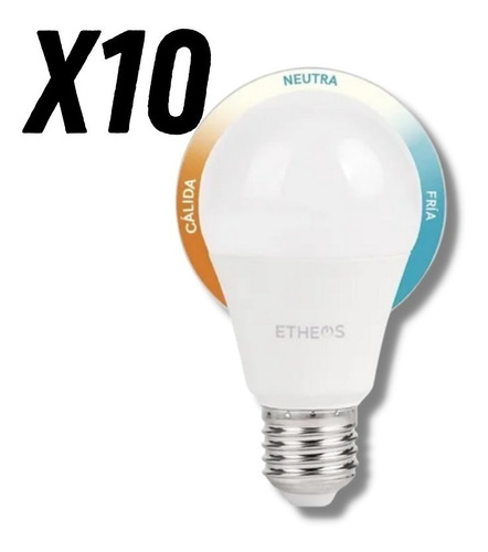 Imagen 1 de 5 de 10 Lamparas Foco Led 3 En 1 Tenes Luz Fría Neutra O Cálida