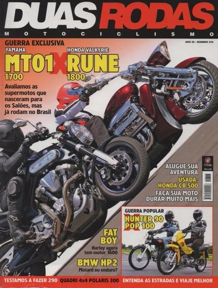 Duas Rodas N°376 Yamaha Mt-01 1700 Honda Valkyrie Rune 1800