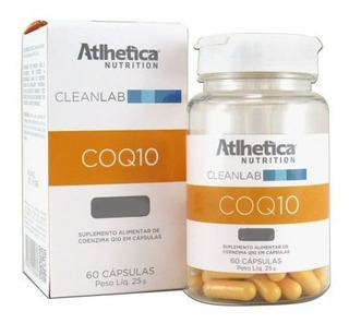 Coq10 50mg 60 Cápsulas Atlhetica Nutrition
